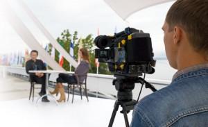 Video Camera at Shoot