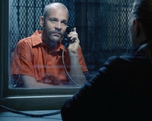 Superb acting: Peter Saarsgard plays a criminal on The Killing on AMC