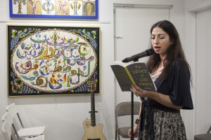"Aida Zilelian Reading from her novel ""The Legacy of Lost Things"" at Abril Bookstore, Glendale CA - Photo: Hugh Hamilton"