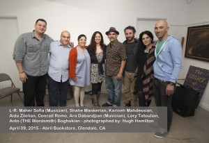 """Celebrating the release of """"The Legacy of Lost Things"""" and honoring the 100th anniversary of the Armenian genocide at Abril Bookstore, Glendale, CA"""